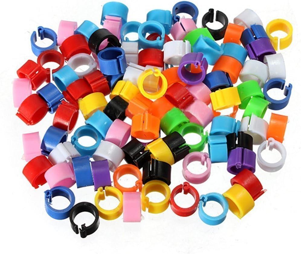 PCMOVILES 100 Anillas Abiertas DE Colores para PALOMOS DE 9MM