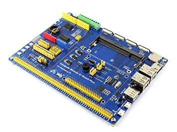 Waveshare Compute Module IO Board Plus Composite Breakout Board for Developing with Raspberry Pi Compute Module