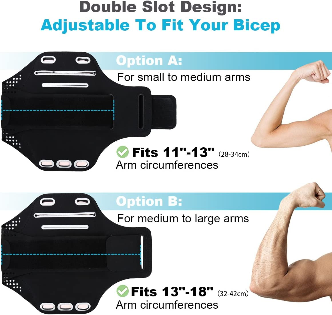 Samsung Galaxy S7//S6//S5 Guzack Running Armband for iPhone X//8 Plus//8//7//7 Plus//6s//6s Plus//6 for Hikin//Running//Walking Sweatproof Phone Armband Sports Armband Phone Armband Case Up to 5.5 Inches