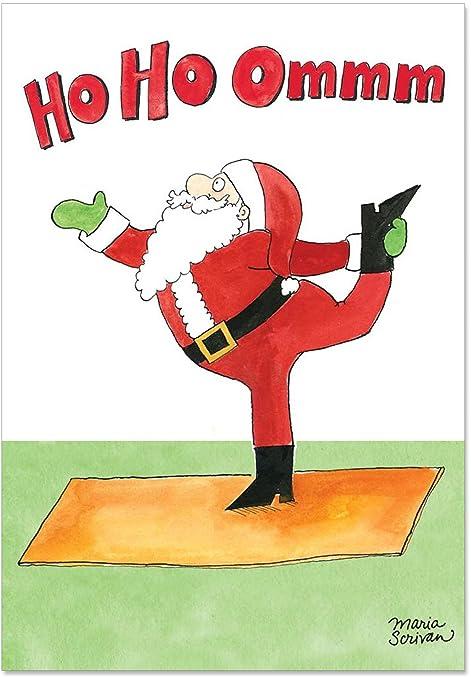 Auguri Di Natale Yoga.Babbo Natale Yoga Scherzo Di 12 Christmas Card Pack Sku