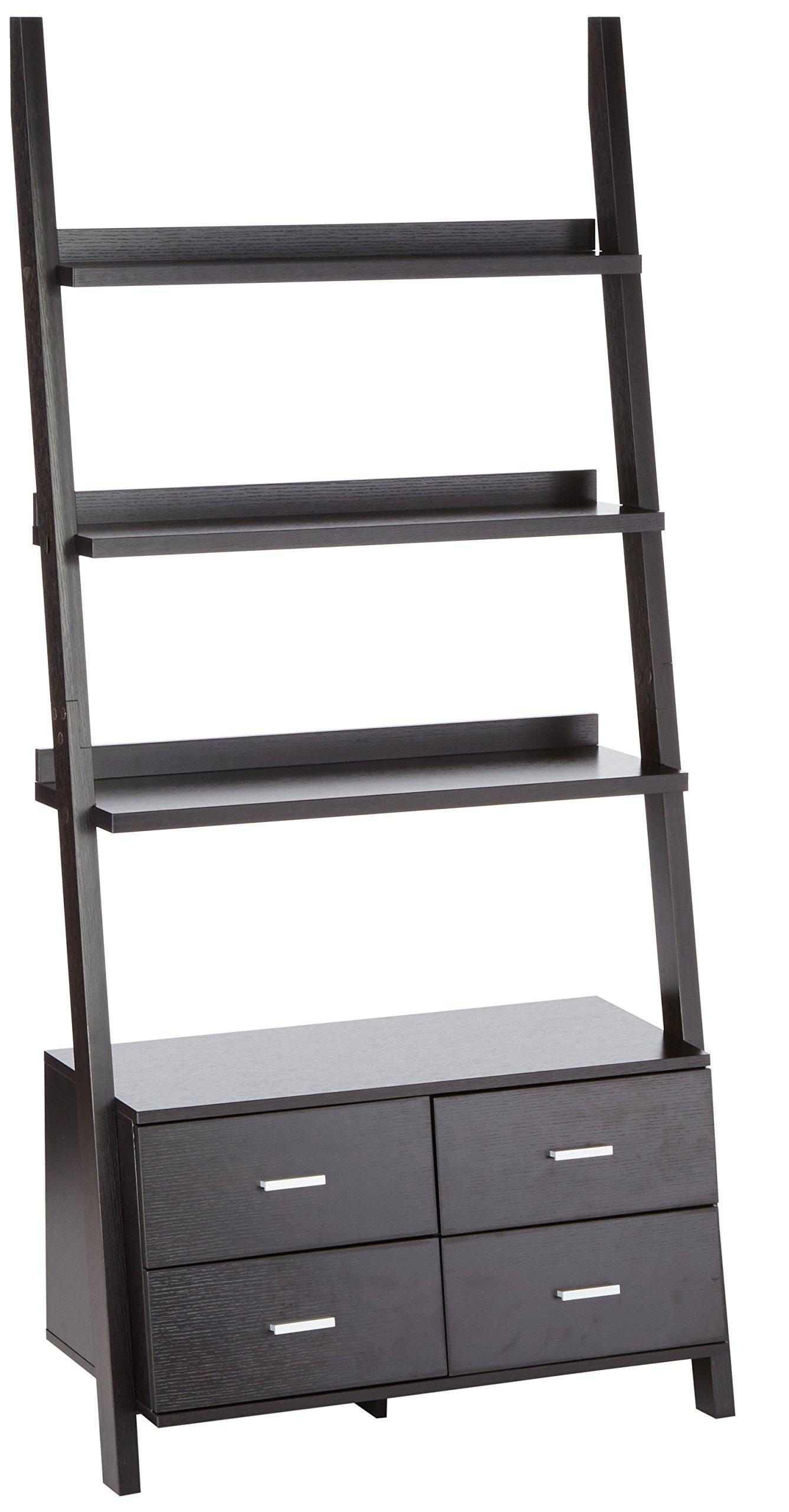 Coaster 800319 Home Furnishings Ladder Bookcase, Cappuccino by Coaster Home Furnishings