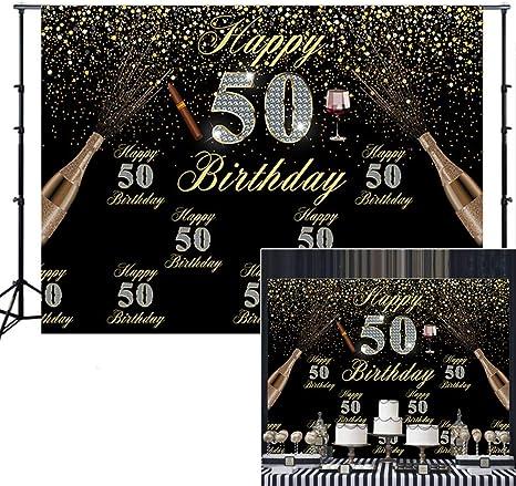 Amazon.com: Fondo para fiesta de cumpleaños de 50 años para ...