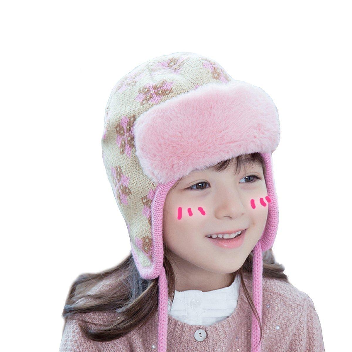 Amazon.com   TRIWONDER Kids Boys Girls Winter Knit Beanie Hat Pom Pom  Bobble Hat Ski Cap Toddler Warm Knit Hat (Beige - Fleece)   Baby 1836a4ee9258