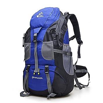 Eogro - Mochila Impermeable DE 50 L para Acampada, Senderismo, montañismo, Viajes, Escalada: Amazon.es: Deportes y aire libre