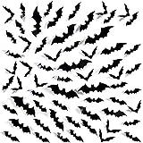 Yusongril 60PCS Bats Halloween Decoation Wall Decals Glass Door Porch Window Fridge Stickers 3D DIY Party Supplies Scary…