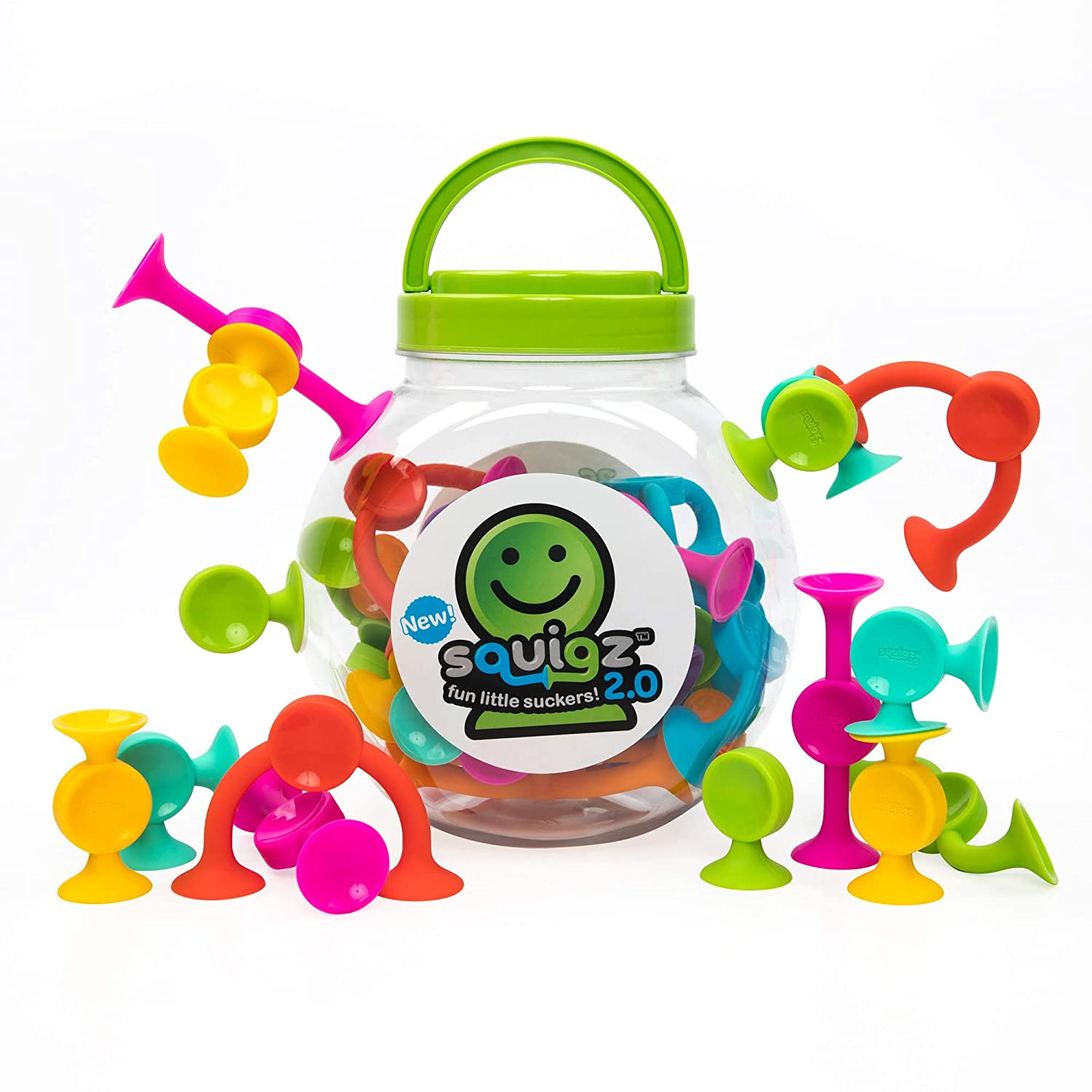The Fat Brain Toys Squigz travel product recommended by Molly Callister on Lifney.