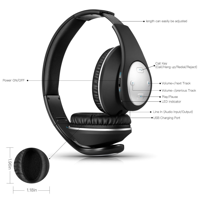 Amazon.com: Over Ear Headphones, Wireless Stereo Bluetooth Headset ...
