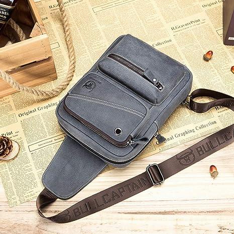 Amazon.com  QUORA Men Genuine Leather Business Casual Brown Black Shoulder  Crossbody Bag (Grey)  Automotive 2e660c8574d35