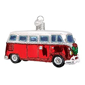 Old World Christmas Ornaments: Camper Van Glass Blown Ornaments for Christmas Tree