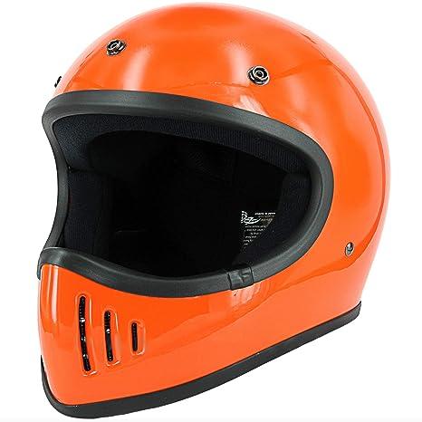Amazon.com: Casco de motocicleta de cara completa con visera ...