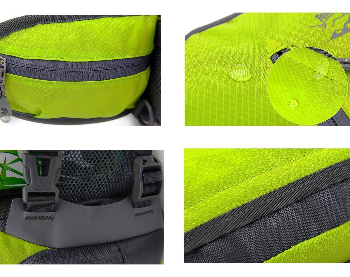 TOP-UP Multifunctional Water Resistant Outdoor Waist Pack Backpack Shoulder Bag Daypack with Water Bottle Pockets Waist Bag Fanny Pack for Running Hiking Camping Cycling Traveling