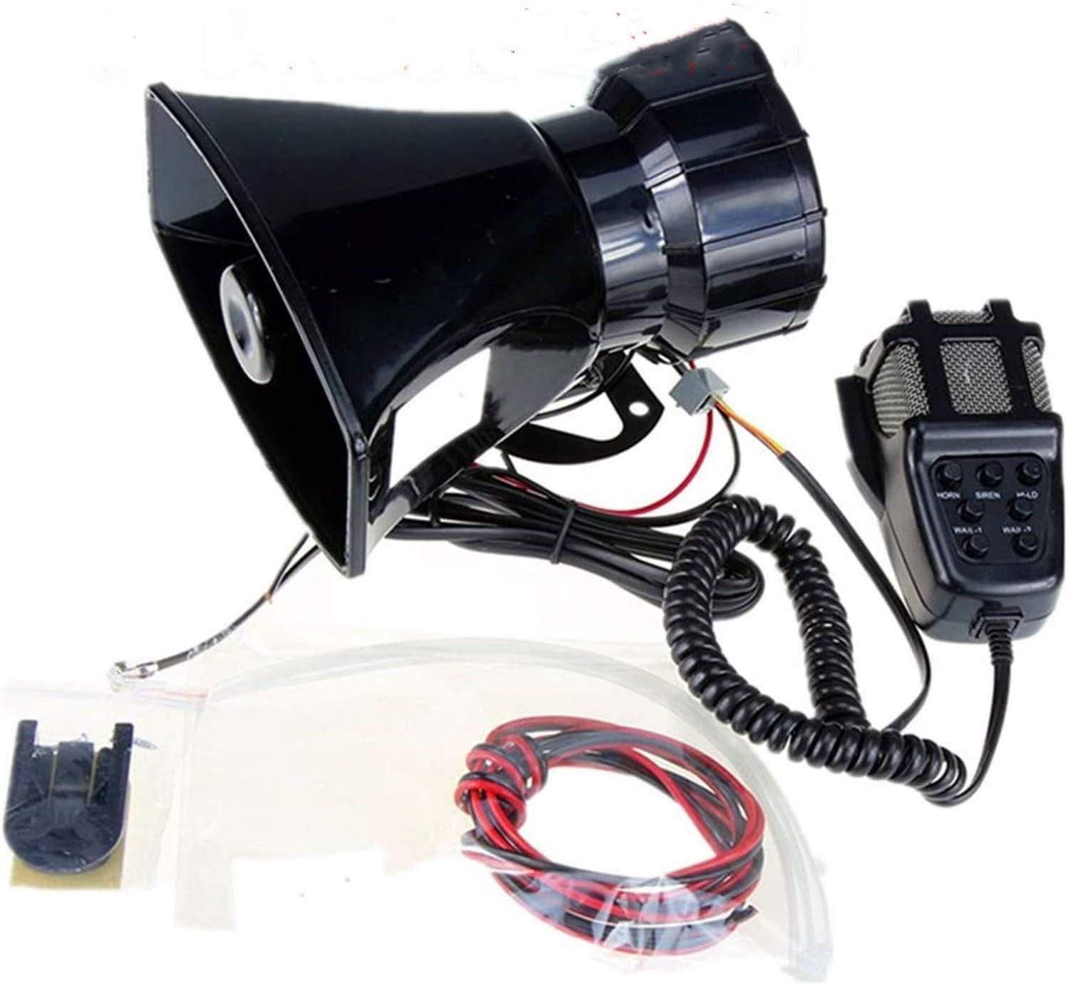 Yida 12v 80w 7 Tone Sound Auto Sirene Fahrzeug Horn Mit Mic Pa Lautsprechersystem Emergency Sound Amplifier Auto Siren Lautsprecher Auto