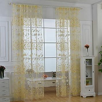 aolvo gardinen fr wohnzimmer vintage fenster vorhang blumenmuster wohnzimmer schlafzimmer fenster panel vorhnge - Schlafzimmer Fenster