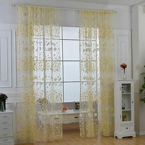 Aolvo Gardinen für Wohnzimmer, Vintage Fenster Vorhang ...