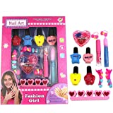 Pretend Play Beauty Fashion Toys Children's Makeup Toys Manicure Washable Peelable Nail Polish Little Girl Set Gifts