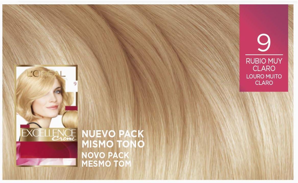 LOreal Paris Excellence Creme Tinte Permanente Tono 9 Rubio Muy ...
