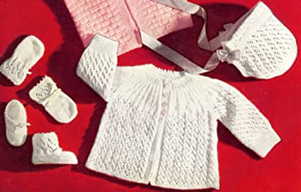 Amazon Com Vintage Knitting Pattern To Make Knitted Eyelet Lace