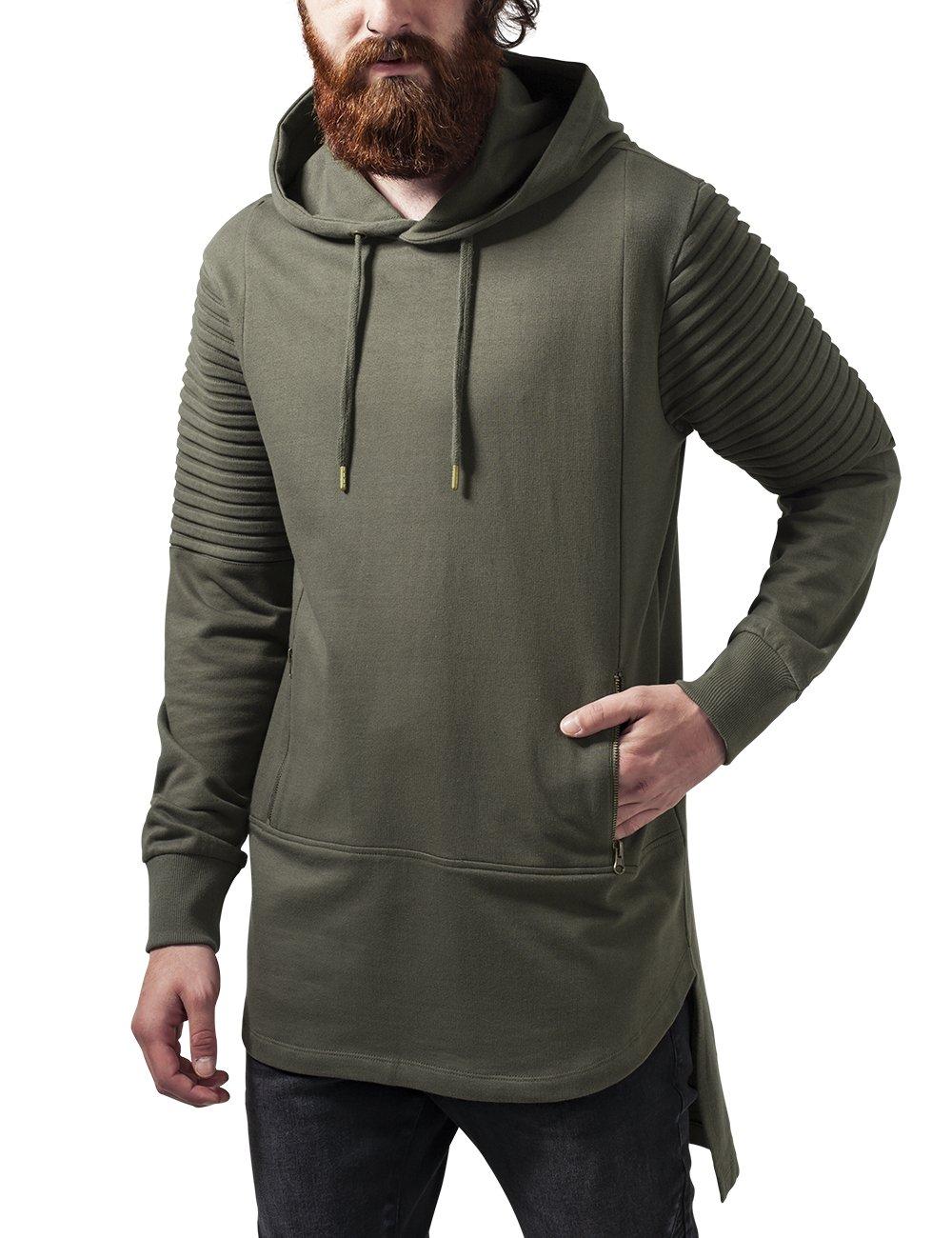 Urban Classic Men's Pleat Sleeves Terry Hilo Sports Hoodie: Amazon.co.uk:  Clothing