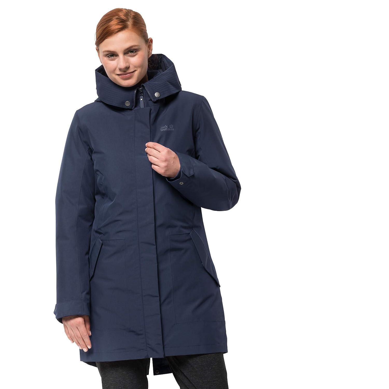 bluee Jack Wolfskin Women's Monterey Bay Waterproof 3in1 Insulated Long Jacket