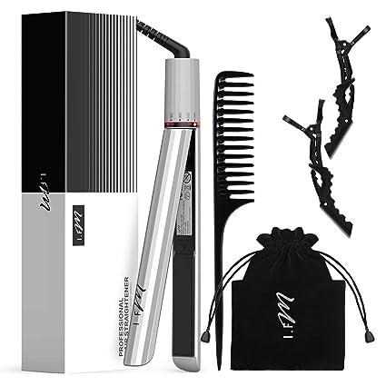 Planchas de pelo para alisar el cabello Alisar y alisar el cabello con planchas de cerámica de turmalina para todo tipo de cabello