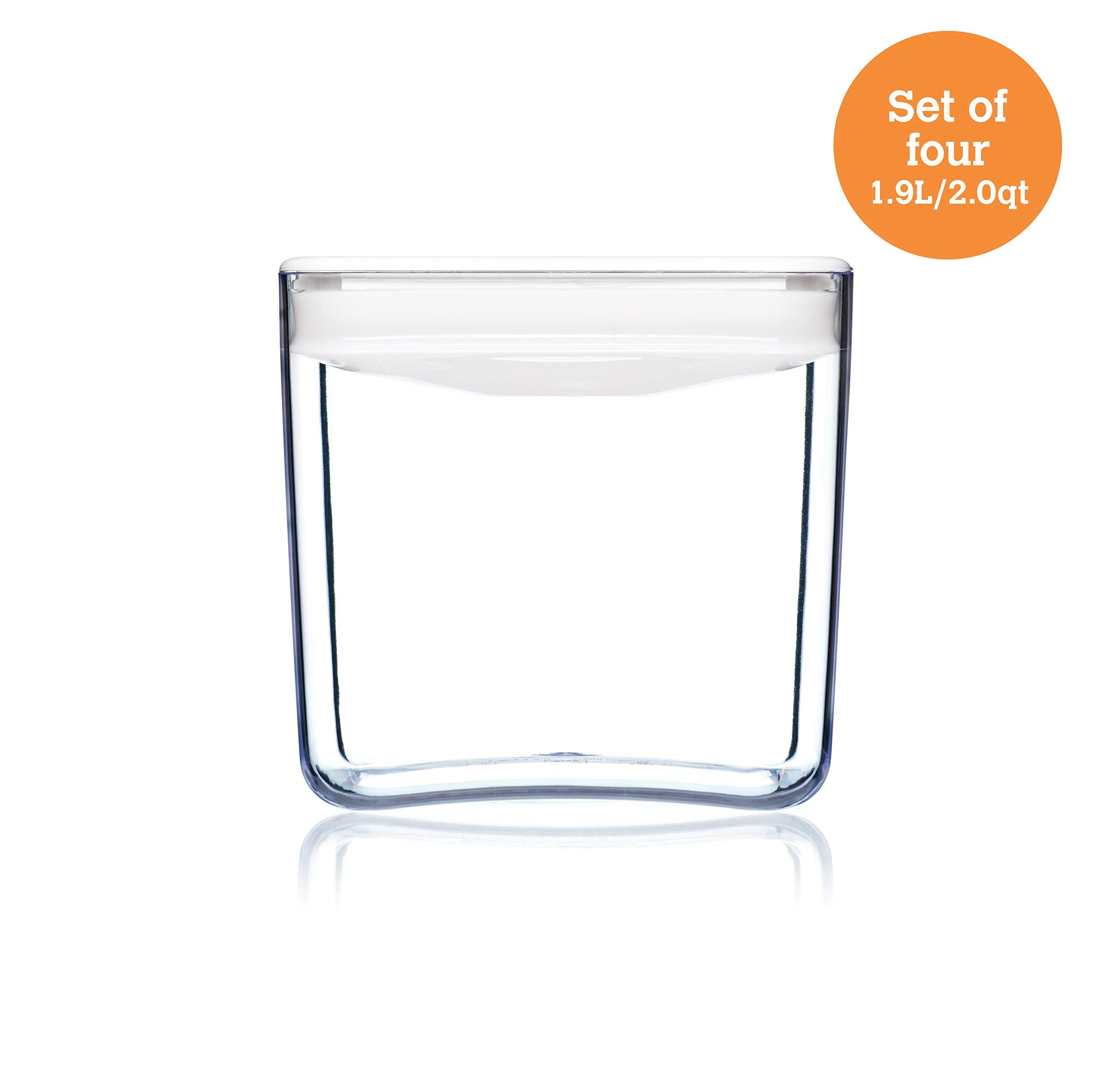ClickClack Cube Food Storage/Display Canister, 2 qt, Set of 4