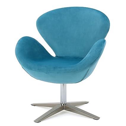 Outstanding Amazon Com Manhattan New Velvet Contour Swivel Chair Unemploymentrelief Wooden Chair Designs For Living Room Unemploymentrelieforg