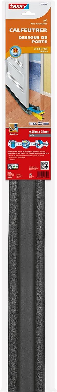 color negro Goma para debajo de la puerta Tesa 05418-00002-00 Bourrelet BP espuma de PVC, 1 m x 37 x 12 mm
