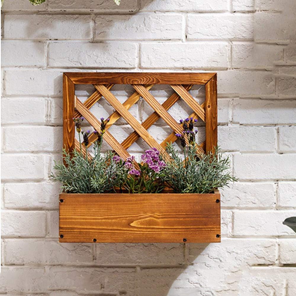 Espositore per fiori a più strati Espositore per piante a pianta in fiore da parete in legno Stand per piante a più piani Espositore per vasi da fiori per giardino interno Mensola del balcone del fior
