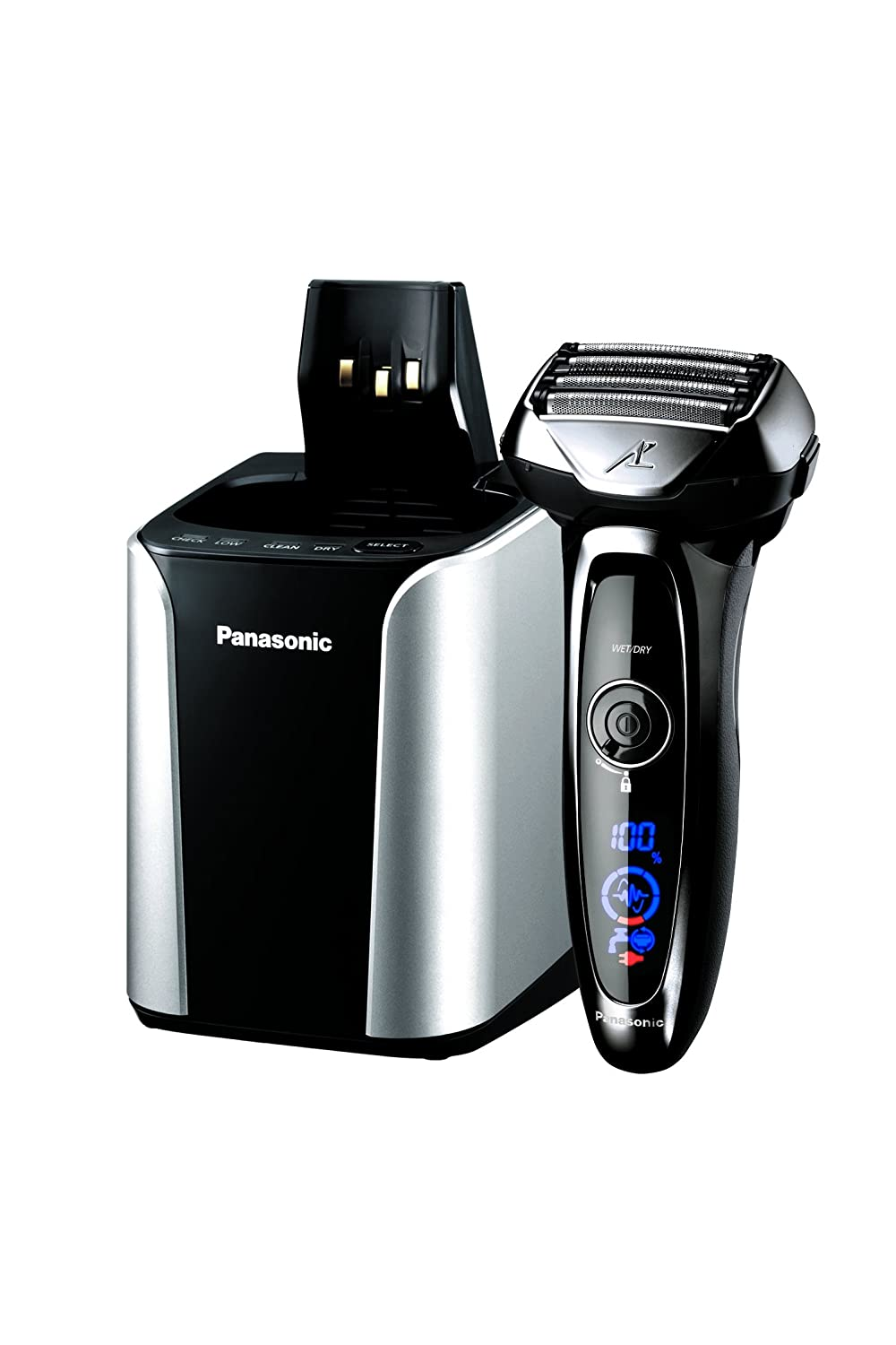 Panasonic ES-LV95-S Arc5 Electric Razor, Men's 5-Blade Cordless with Shave Sensor Technology and Wet/Dry Convenience, Premium Automatic Clean & Charge Station Included