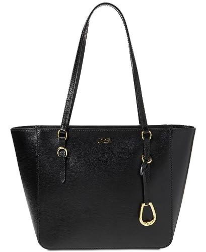 d451051c2244 Amazon.com  Lauren Ralph Lauren Small Bennington Tote (Black)  Shoes