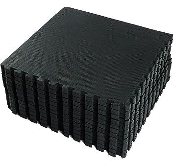 Vlfit Schutzmatten Set Fitness 18 Puzzlematten Bodenschutzmatten