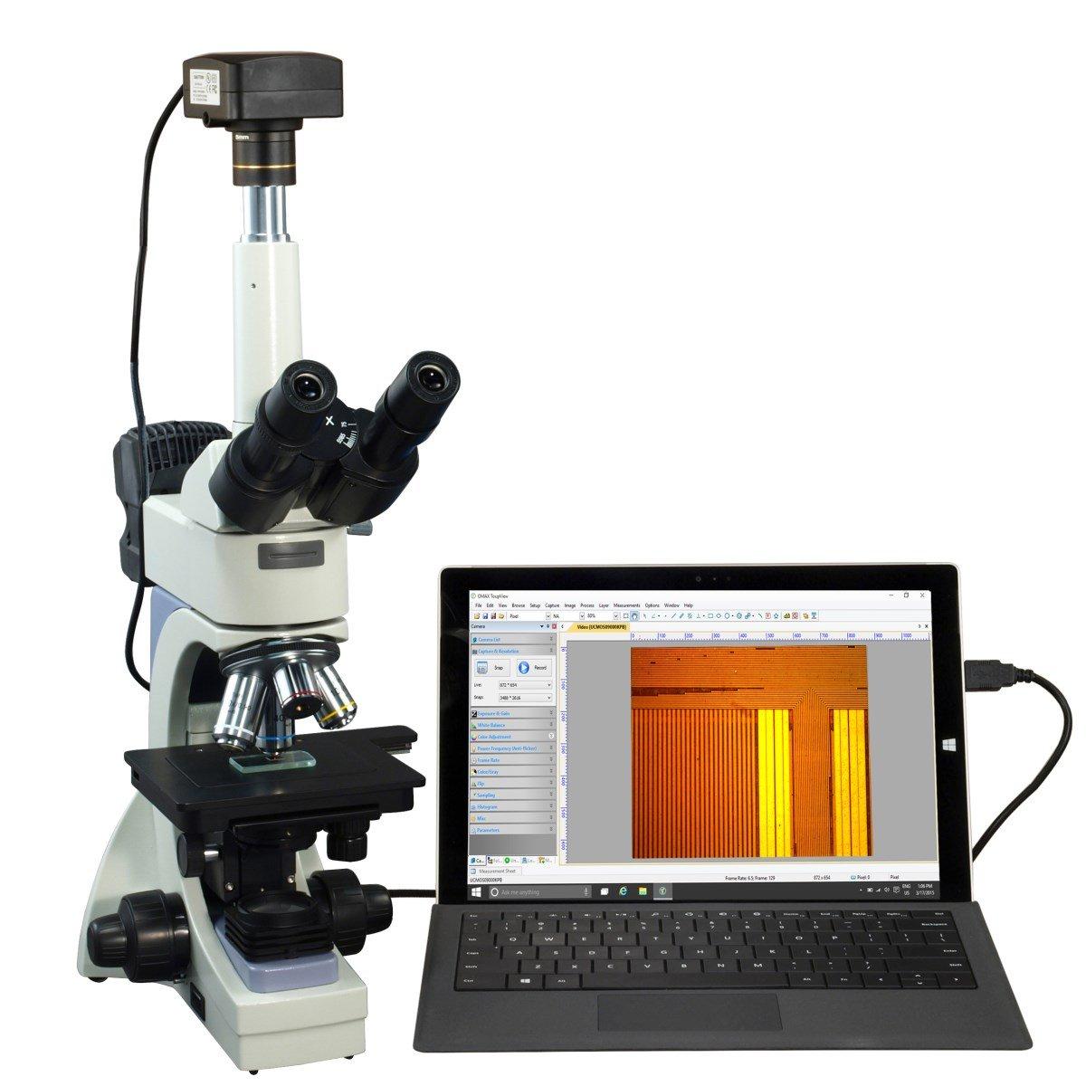 OMAX 40X-2500X USB3 14MPインフィニティ三眼鏡金属顕微鏡+透過/反射光   B01CIL9RT8