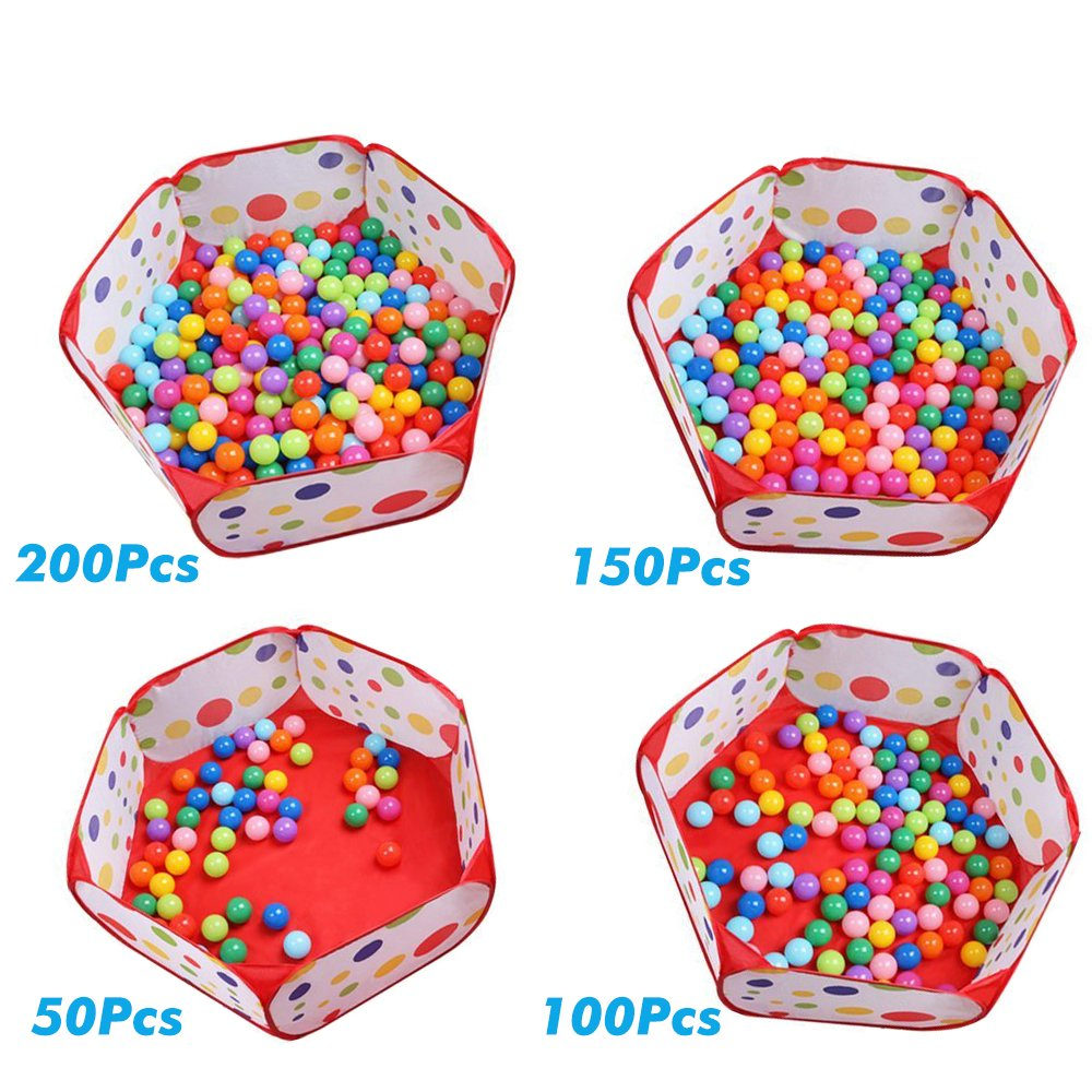 Aeroway Kids Ball Pit Playpen 39.4-inch by 19.7-Inch with Zippered Storage Bag