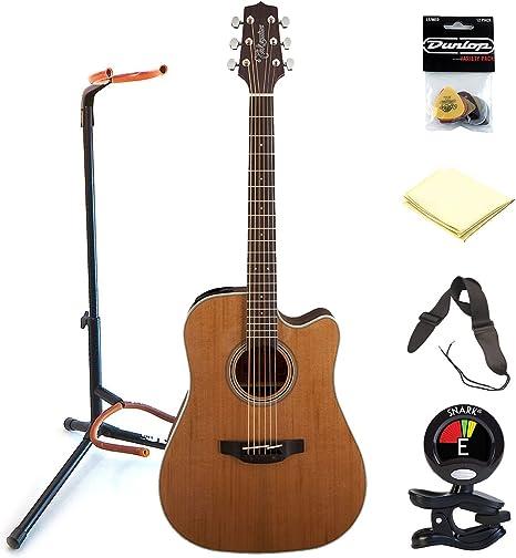 TAKAMINE gd20ce-ns 6 cuerdas acústica guitarra eléctrica paquete ...