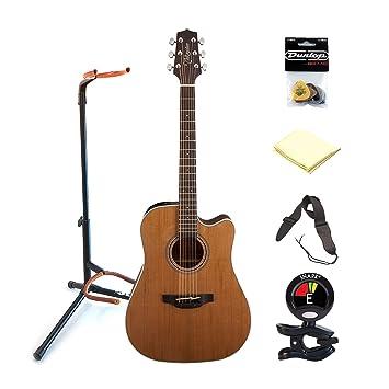 TAKAMINE gd20ce-ns 6 cuerdas acústica guitarra eléctrica paquete con parte superior de cedro,
