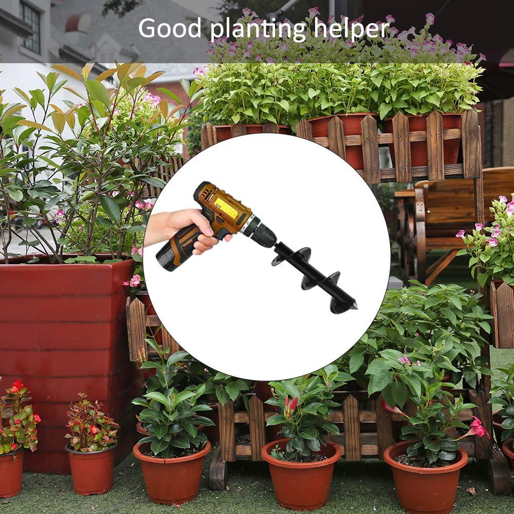Bulb /& Bedding Plant Auger Powstro K 3x 12 inches Garden Plant Flower Bulb Auger Metal Non-slip Earth Auger Bit Auger Drill Bit