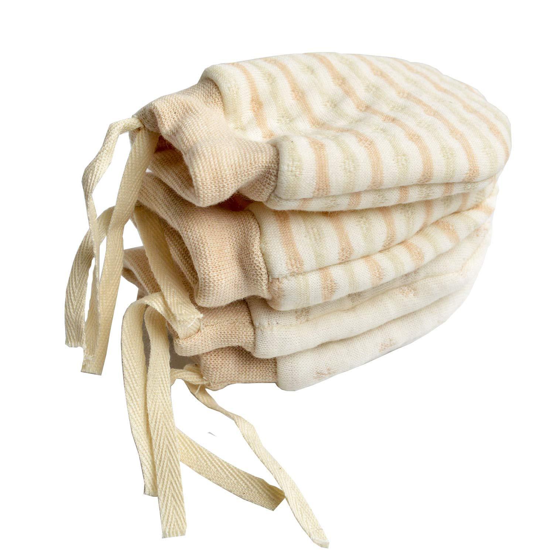 Unisex Scratch Free Newborn Mitten Organic Cotton Mitts Baby Glove Infant LIN