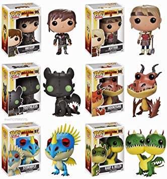Funko pop movies how to train your dragon set of 6 hiccup astrid movies how to train your dragon set of 6 hiccup astrid stormfly hookfang barf belch toothless amazon toys games ccuart Image collections