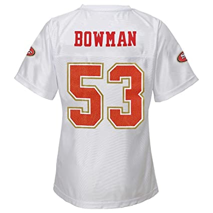 cf973b94ceb Image Unavailable. Image not available for. Color  Outerstuff NaVorro  Bowman NFL San Francisco 49ers Replica Jersey Girls Youth ...