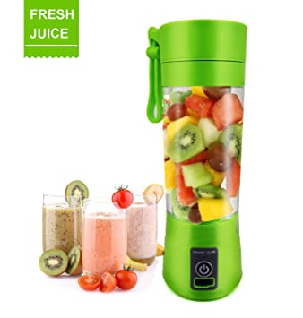 Portable Juice USB Juicer Cup Fruit mixer Personal size Electric Rechargeable Mixer 380ml water bottle with USB Charger Cable: Amazon.es: Hogar