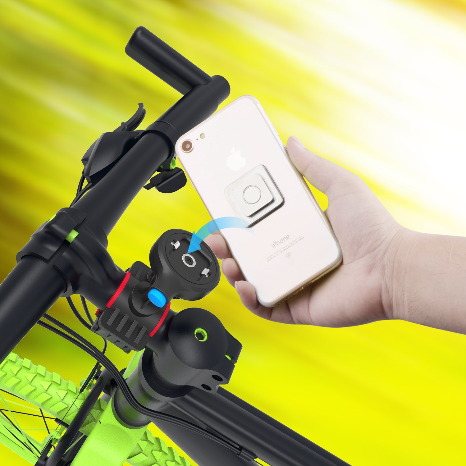 iPhone 8 Plus Bike and Pushchair Mount with One Touch Lock /& Release Feature 7 Clipster Bike Phone Mount for iPhone and Smartphones Samsung Ga CLIP-BIKE 6S Universal Mount Compatible with iPhone X 6 Plus