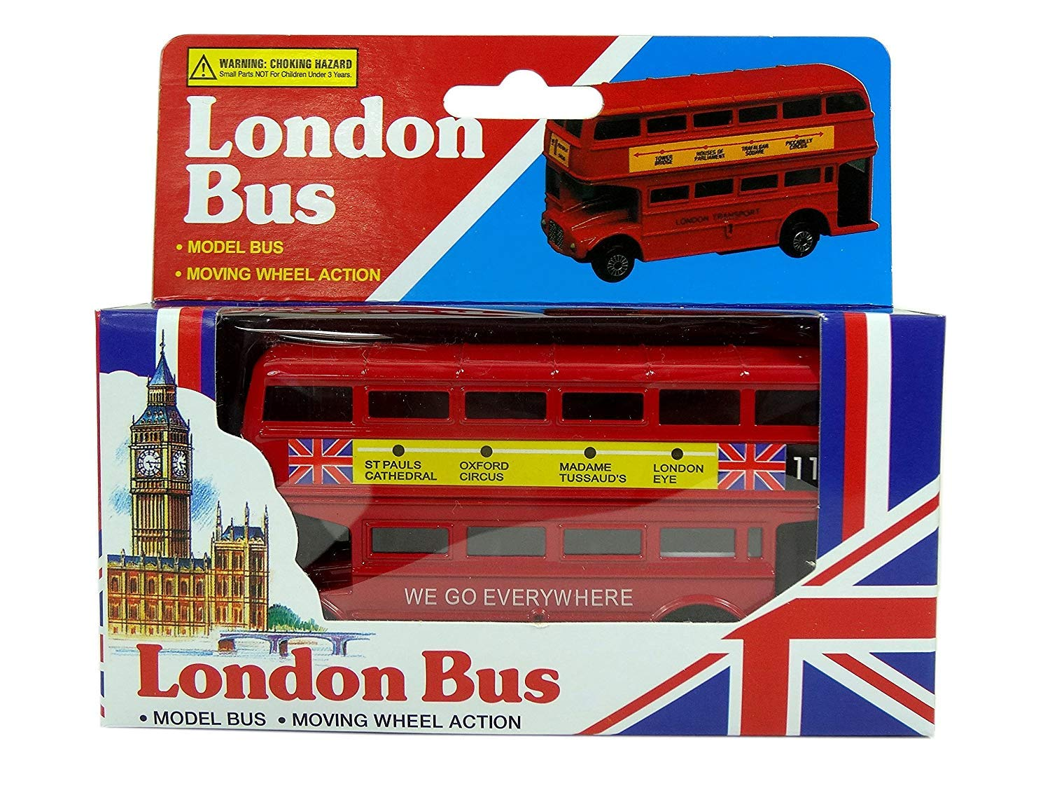 Toys & Games Other Diecast Vehicles London Red Bus Metallic with moving wheels Toy British Souvenir Gift