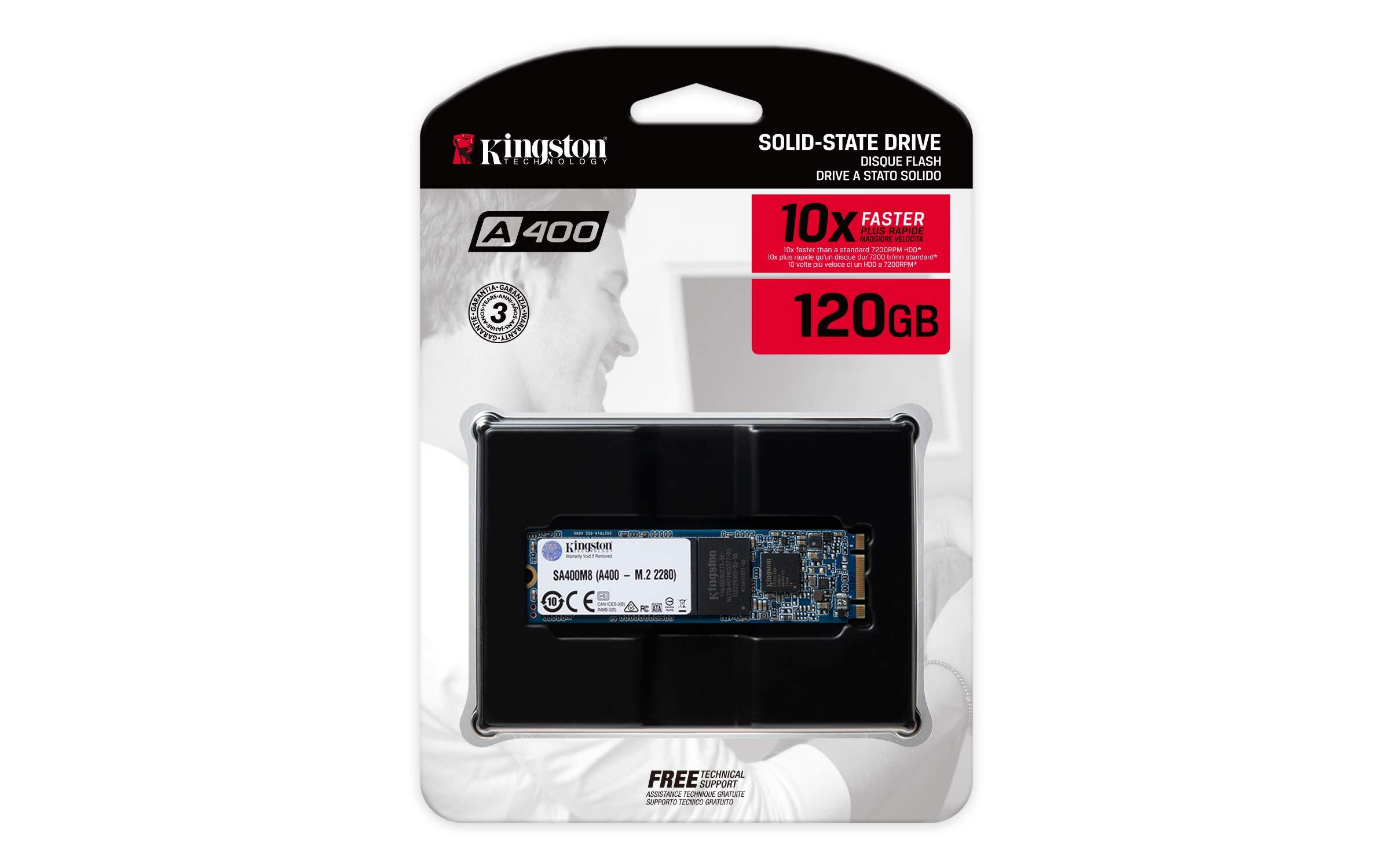 "Kingston A400 SSD 120GB SATA 3 2.5"" Solid State Drive SA400S37 3"