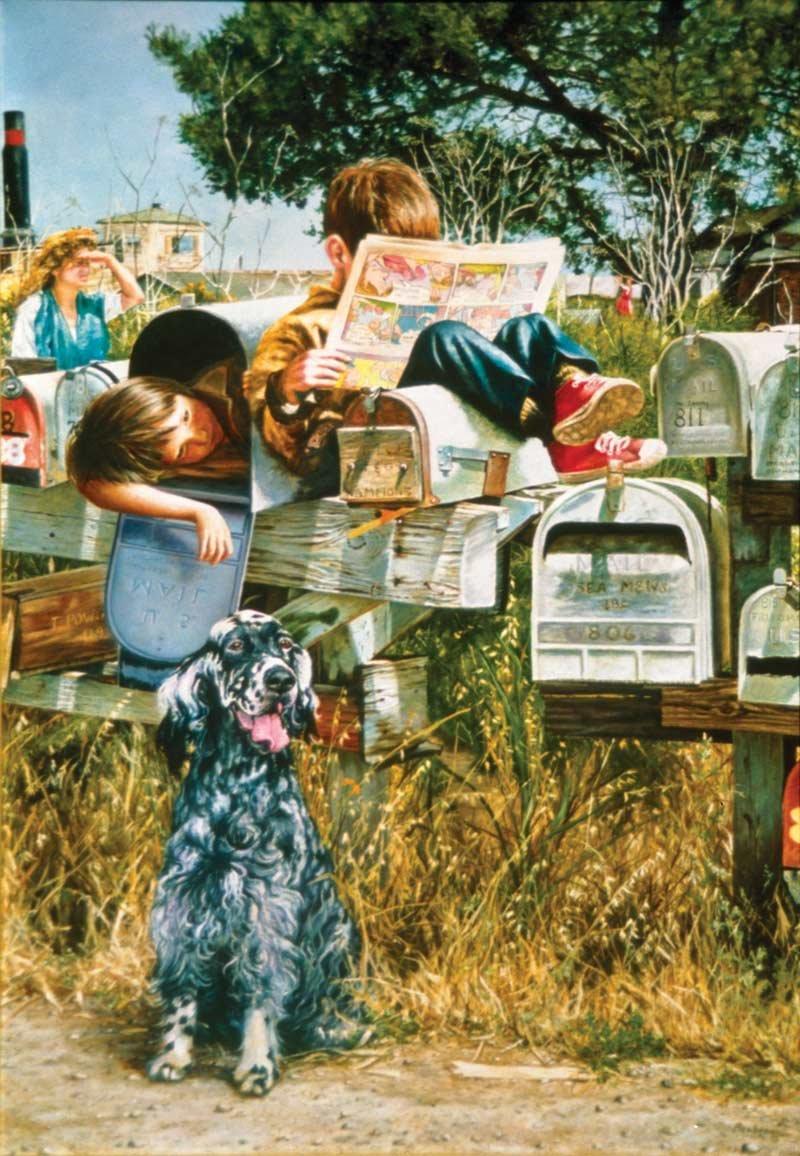 SunsOut 44211 - Waiting for the Mailman - Puzzle 500 piezas