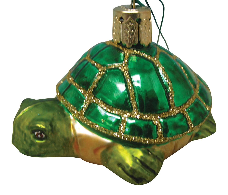 Amazon.com: Beachcombers Glass Nautical Ocean Sea Turtle Christmas ...