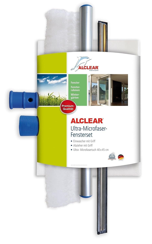 ALCLEAR 960008 Profi Fensterset mit Mikrofaser Fensterreiniger und ...
