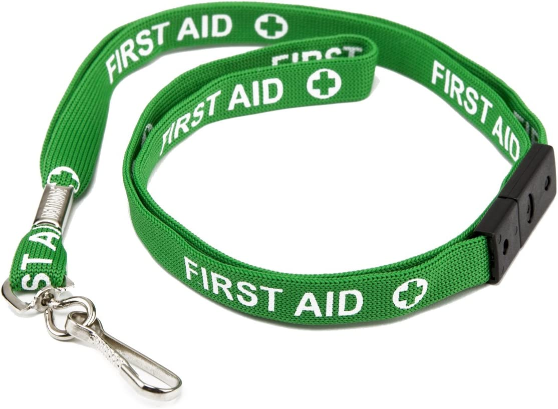 ID Card It ID Badge Holder Horizontal Enclosed Holder and Green Neck Strap Safety Breakaway Lanyard 50
