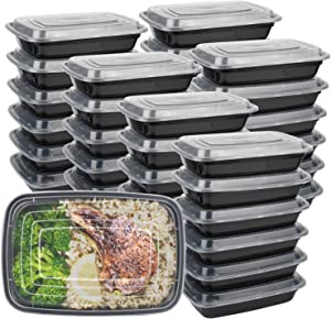 Meal Prep Containers with Lids 50Pack - Bento Box - Durable BPA Free Plastic Reusable Food Storage Containers - Stackable, Reusable& Dishwasher Safe