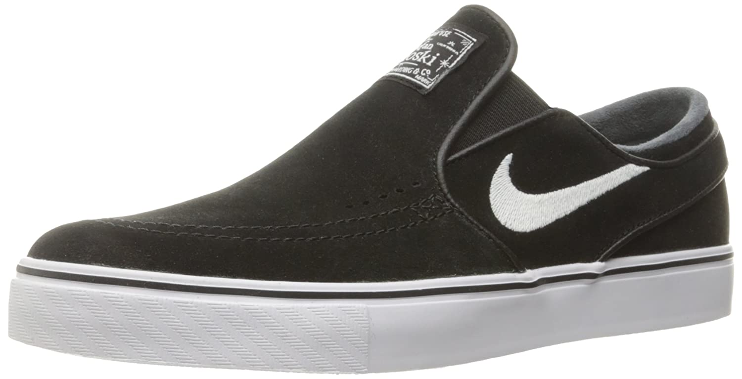pretty nice fc430 f1562 Amazon.com   Nike Men s Zoom Stefan Janoski Slip Black White Skate Shoe 9  Men US   Fashion Sneakers