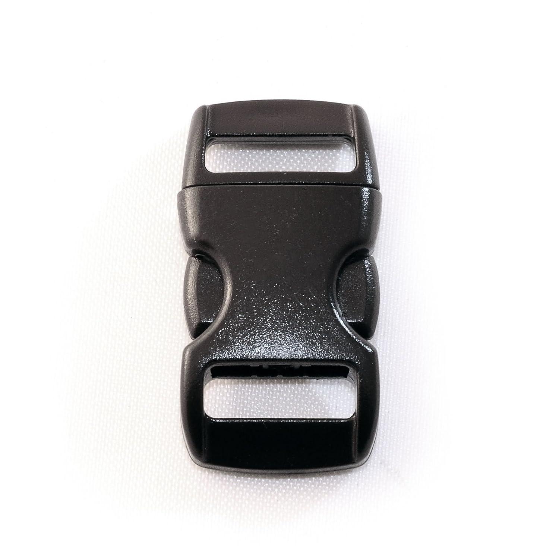 """29mm x 15mm Fermoir /à clip en plastique lot de 20 fermoirs attache /à clipser de la marque Ganzoo couleur: noir id/éal pour les paracordes bracelet, collier pour chien, etc grandeur: 3//8/"""" boucle"""